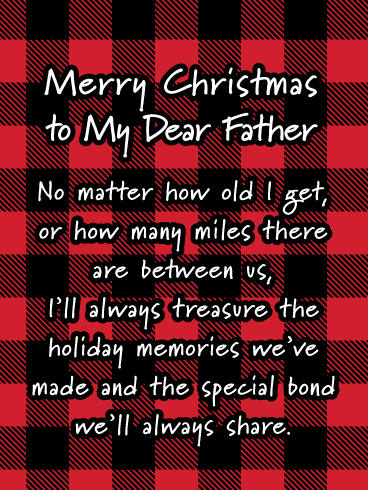 Miss You, Dad! - Merry Christmas Card for Father