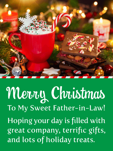 Irresistible Holiday Treats - Merry Christmas Card for Father-in-Law