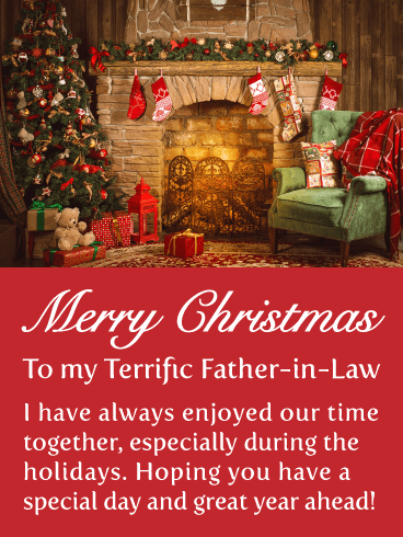 Our Time Together - Merry Christmas Card for Father-in-Law