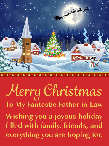 Winter Wonderland - Merry Christmas Card for Father-in-Law