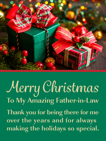 You're Amazing! - Merry Christmas Card for Father-in-Law