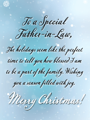 A Joyful Season - Merry Christmas Card for Father-in-Law