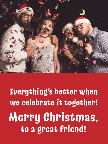 Better Together - Merry Christmas Card for Friends