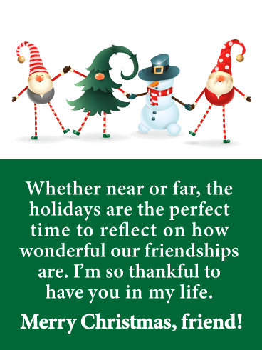Holiday Pals - Merry Christmas Card for Friends