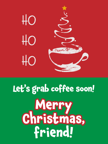 Coffee Date - Merry Christmas Card for Friends
