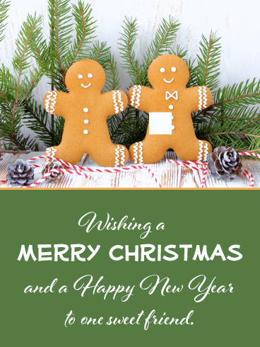 Friendship is Sweet - Merry Christmas Card for Friends