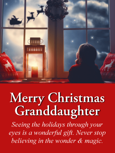 The Wonder & Magic - Merry Christmas Card for Granddaughter