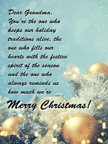 You are So Special! - Merry Christmas Card for Grandma