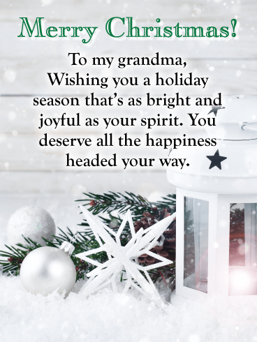 White Christmas - Merry Christmas Card for Grandma