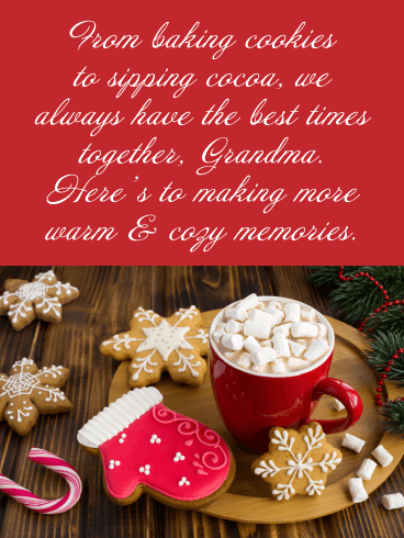 More Warm & Cozy Memories - Merry Christmas Card for Grandma