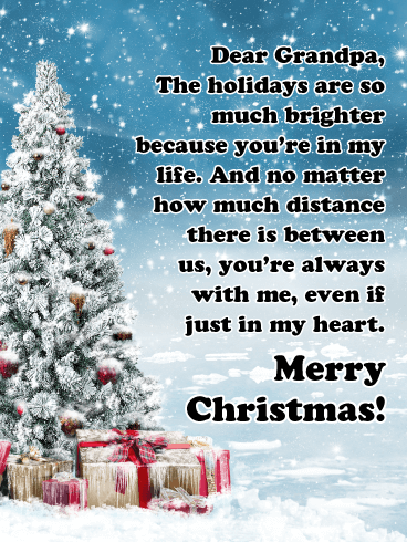 You are in my Heart - Merry Christmas Card for Grandpa