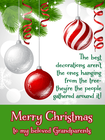 Best Ornaments - Merry Christmas Card for Grandparents