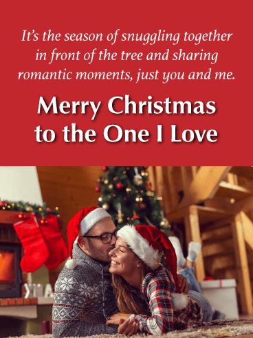 The Romantic Moments - Merry Christmas Card for Lover