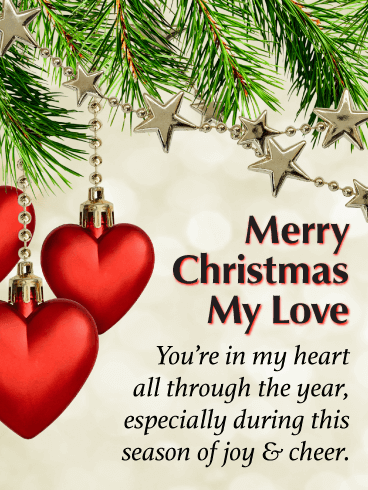 You're in My Heart - Merry Christmas Card for Lover