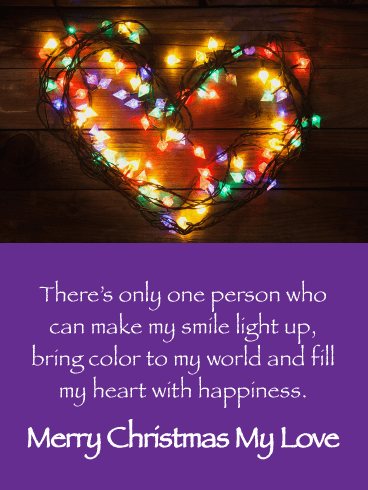 You Fill My Heart with Happiness - Merry Christmas Card for Lover