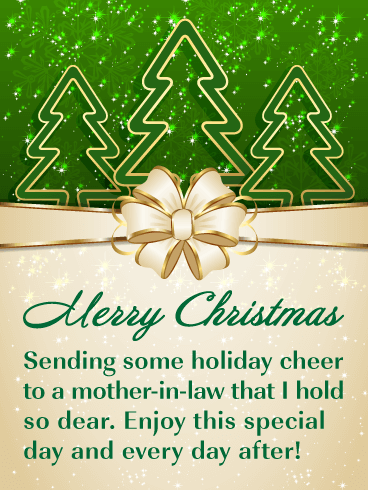 Holiday Cheer - Merry Christmas Card for Mother-in-Law