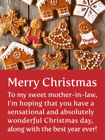 Perfect Cookies - Merry Christmas Card for Mother-in-Law