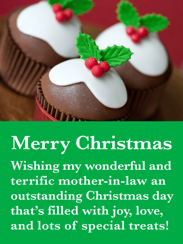 Special Treats - Merry Christmas Card for Mother-in-Law