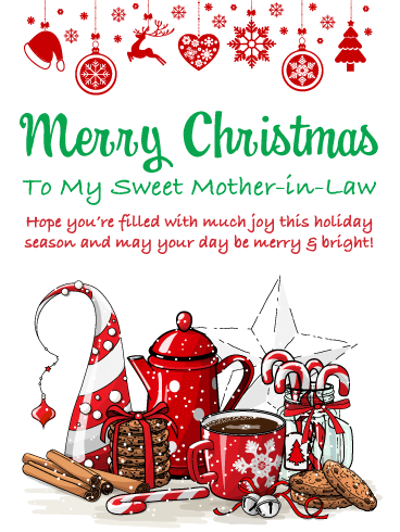 You're So Sweet - Merry Christmas Card for Mother-in-Law