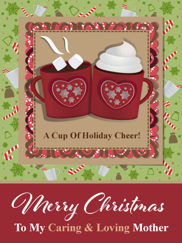 Cozy Cups of Cocoa – Merry Christmas Card for Mother