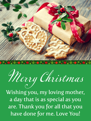 Perfect Holiday Cookies - Merry Christmas Card for Mother