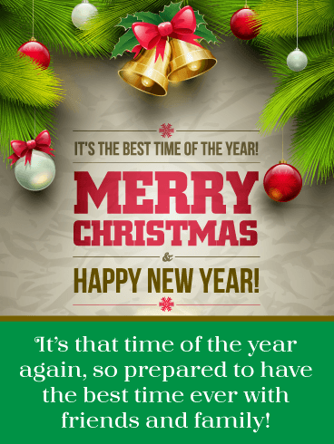 Best Time Ever BTS – Merry Christmas and Happy New Year Card