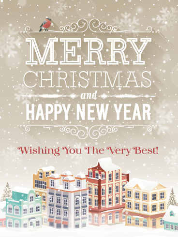A Snow White Christmas -  Merry Christmas and Happy New Year Card