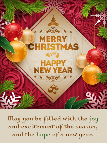 Excitement of the Season - Merry Christmas and Happy New Year Card
