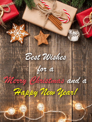 Christmas Gifts for You - Merry Christmas and Happy New Year Card