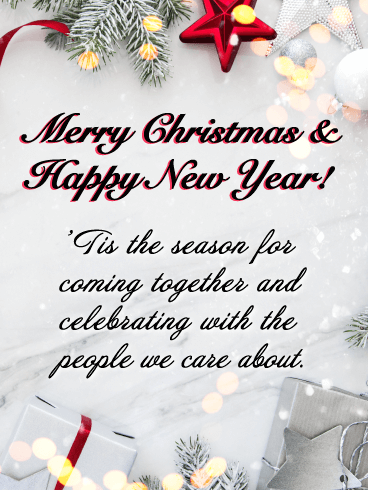 'Tis the Season for White Christmas - Merry Christmas and Happy New Year Card