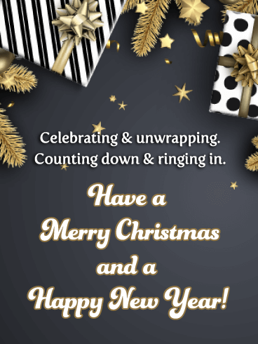 Christmas Countdown - Merry Christmas and Happy New Year Card