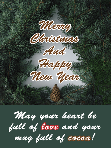 Love & Cocoa - Merry Christmas Happy New Year Card