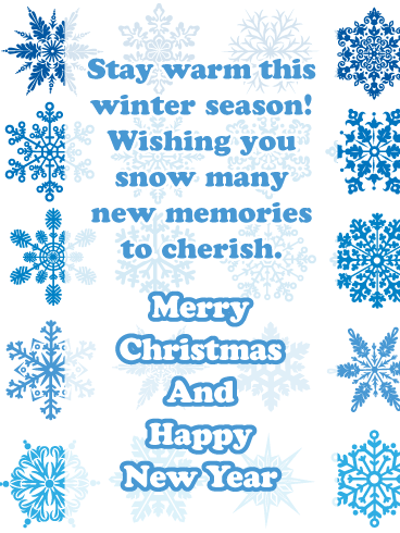 Snow Many Memories - Merry Christmas and Happy New Year Card