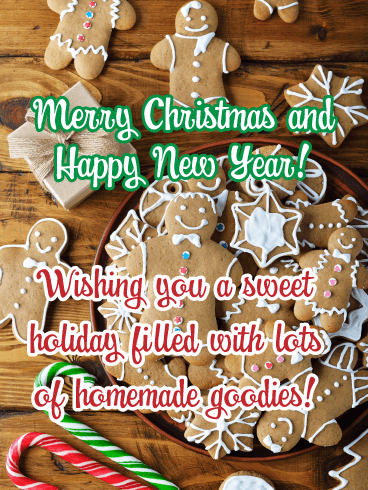 Iced Cookies- Merry Christmas Happy New Year Card
