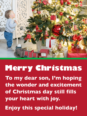 Excitement & Wonder - Merry Christmas Card for Son
