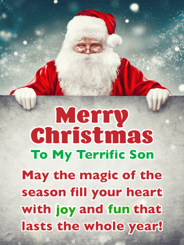 Joy & Fun - Merry Christmas Card for Son
