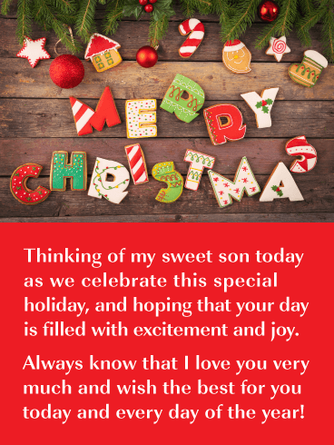 Holiday Cookies! - Merry Christmas Card for Son