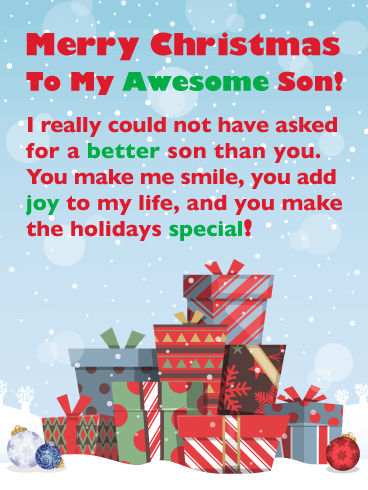 You're Awesome - Merry Christmas Card for Son