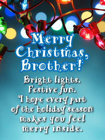 For You Brother Tis The Season To Be Jolly Design Christmas Card Lovely Verse