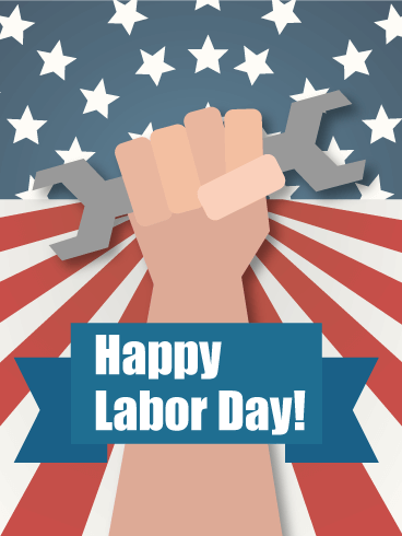 Labor Day Working Hand Card