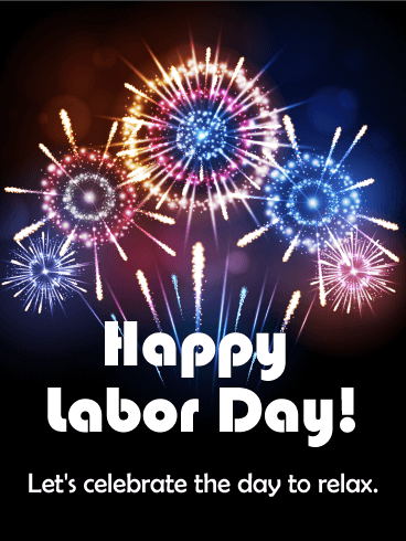 Fireworks Happy Labor Day Card