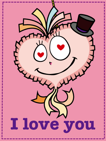 Heart Piñata Love Card