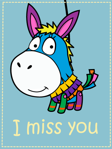 Donkey Piñata Love Card