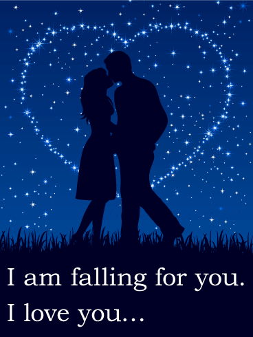 I am Falling for You - Love Card