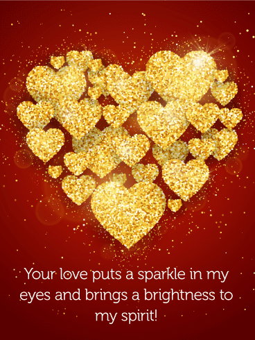 Your Love Puts a Sparkle - Love Card