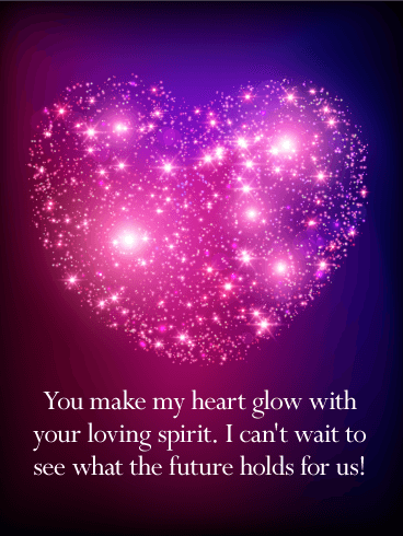 You Make my Heart Glow - Love Card