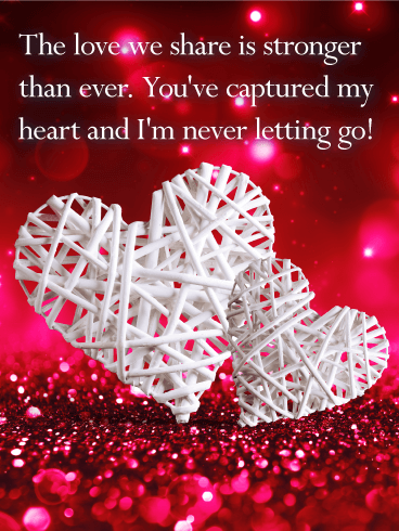 Youve Captured My Heart Love Card Birthday Greeting Cards By
