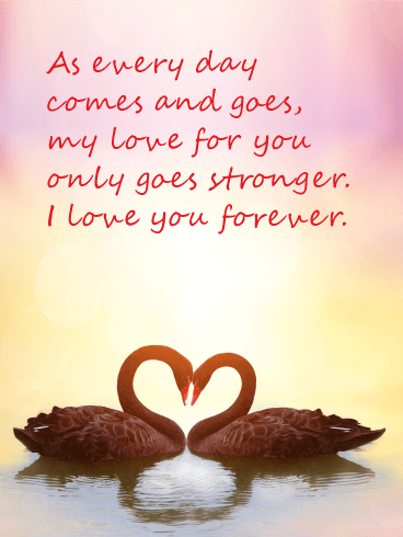 my love only goes stronger love card birthday greeting cards