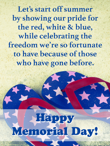 Symbolic Way to Kick Off Summer - Happy Memorial Day card