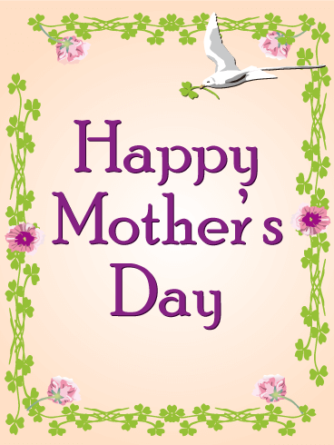 Bird & Flower Happy Mother's DayCard